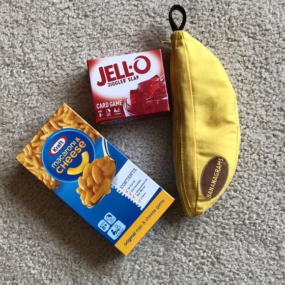 Family Games Kraft Mac-Cheese, Jello & Bananagrams